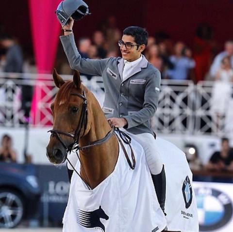 Abdulrahman Al Rajhi (KSA) winner of the the CSI5* Prix BMW Bayern Avenue, LGCT Cannes