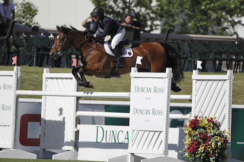Beezie Madden of USA riding Simon. Photo © Spruce Meadows Media Services