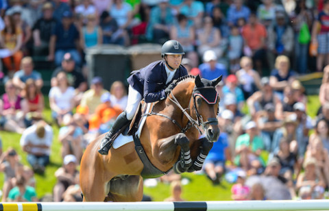 Kent Farrington and Voyeur winners of the $400,000 RBC Grand Prix, presented by Rolex at Spruce Meadows