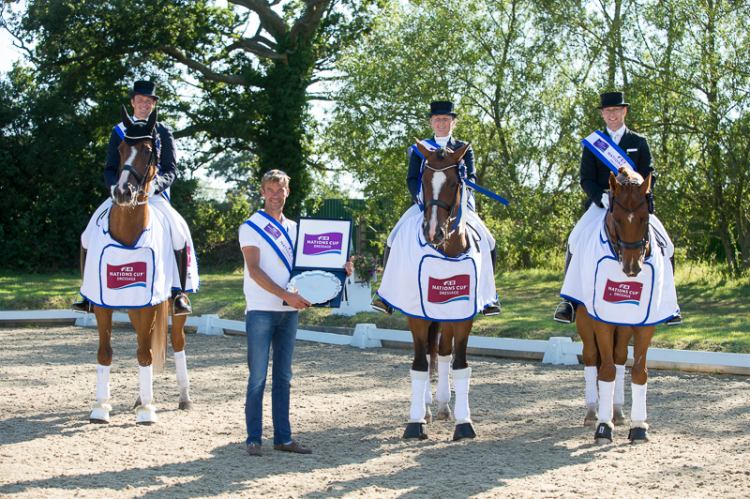 Denmark wins the sixth and last leg of the FEI Nations Cup™ Dressage 2015 pilot series staged at Hickstead