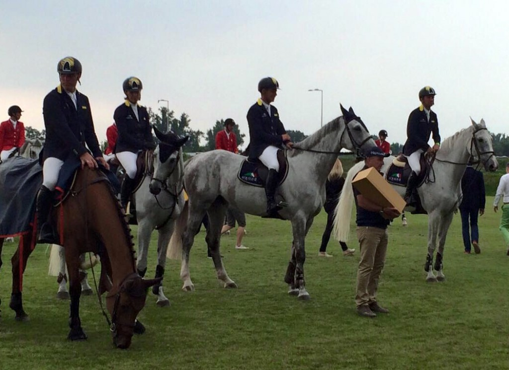 The Ukrainian showjumping team