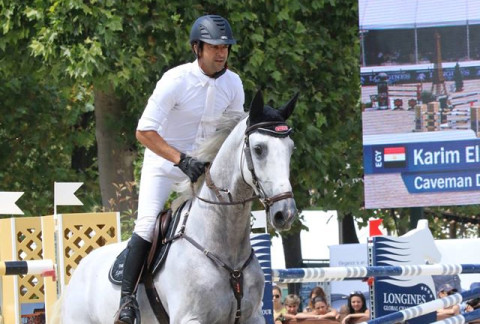 Egypt's Karim El Zoghby 2nd at the Grand Prix Top for 7 year olds in Dinard