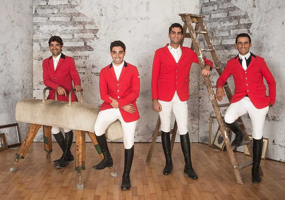 The Egyptian Showjumping Team