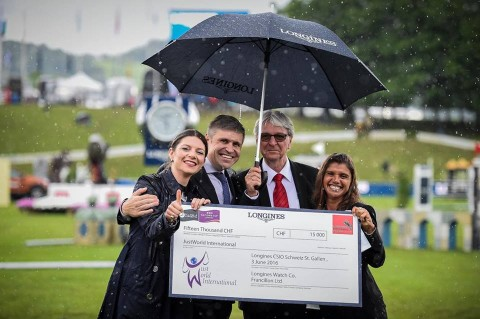 A year of celebration for JustWorld International and the Longines CSIO St.Gallen