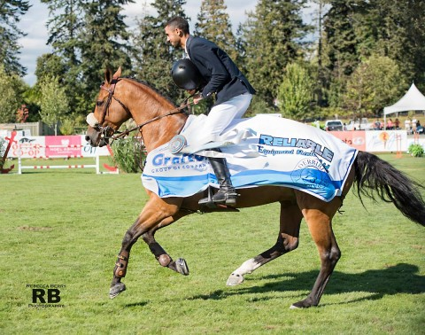 Nayel Nassar on Lordan wins the $100,000 CSI3* Reliable Rentals Grand Prix