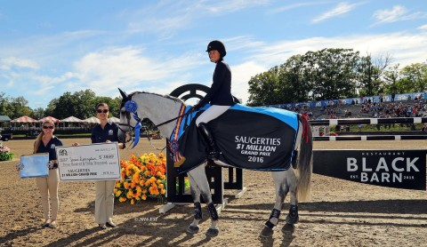 Jessica Springsteen wins the Saugerties $1 Million CSI5* Grand Prix