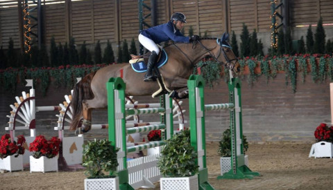 Egypt's Sameh El Dahan winner of the CSI2* Grand Prix of Barcelona