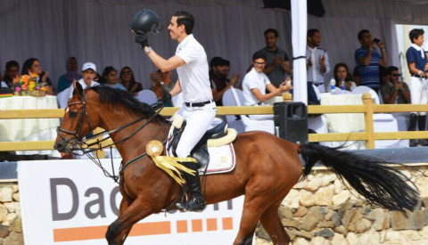 Egypt's Ahmed Ragab winner of the CSI1* Grand Prix of Cairo