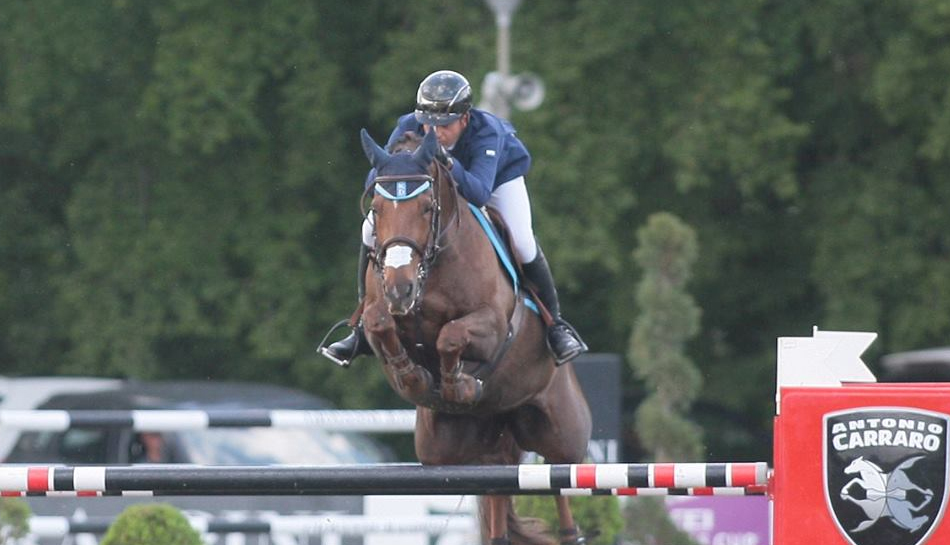 Egypt's Sameh El Dahan winner of the CSI3* Grand Prix in Arezzo