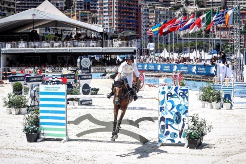 Egypt's Abdel Said winner of the CSI5* Trophee Casino de Monte-Carlo at the Global Champions Tour of Monaco